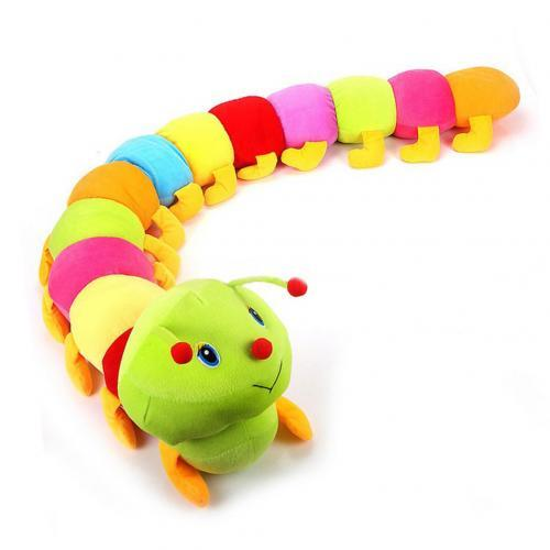 1pc Colorful Caterpillars Plush Kids Toys For Children 50cm Soft Plush Hold Pillow Doll Boys Girls Toy Newborn baby  Gifts