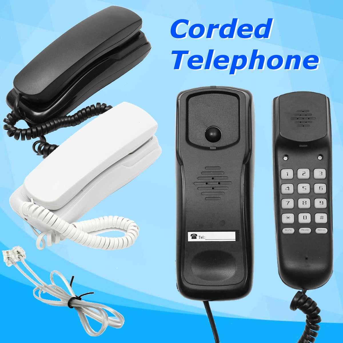 Мини настенный телефон с проводом домашний офис отель Настольный стационарный телефон белый/черный регулятор громкости DC 48V