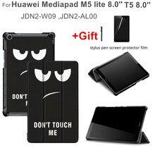 Flip Case for Huawei Medipad T5 8.0 JDN2-W09 JDN2-AL00 Honor Tablet Cover Mediapad M5 Lite