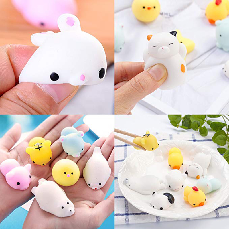 Hot DealsStress-Toys Seal Mochi Animals Tiger Cat Rabbit Mini Bear Relief 30pcs Pig