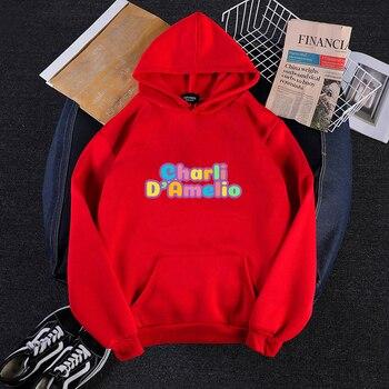 Pink Clothes Hoodie Women Sweatshirt Charli Damelio Mens Hip Hop Hoodies Moletom Feminino Sudadera Oversized  Winter Jacket Coat 12