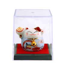 Lucky cat small gift box ceramic decorations Japanese style home hotel office birthday gift Christmas couple gift