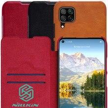 Кожаный флип чехол Nillkin Qin Book для Huawei P40 Lite Nova 7i Nova 6 SE