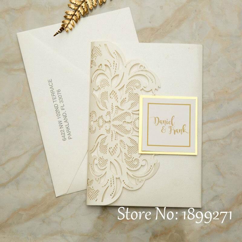 Partecipazioni Matrimonio 1.50pcs Partecipazioni Matrimonio Royal Wedding Invitations Card