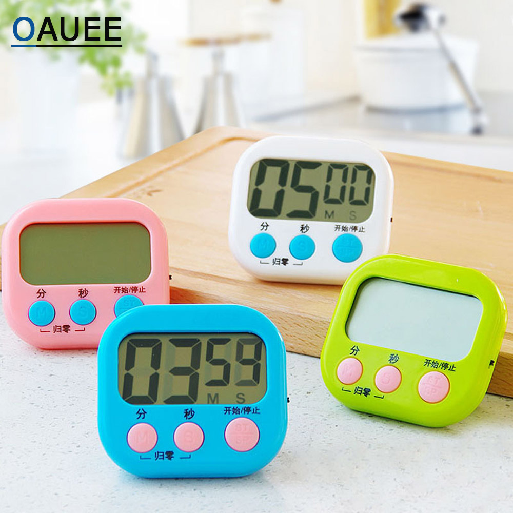Newest Digital Kitchen Timer Big Digits Loud Alarm Magnetic Backing Stand with Large LCD Display For Cooking Baking Sports Games