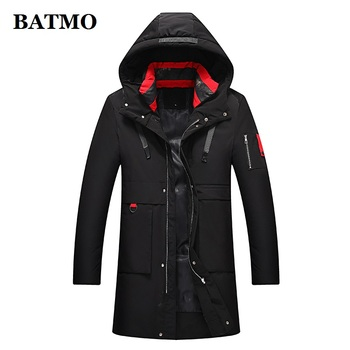 BATMO new arrival winter high quality thicked hooded parkas men,men's winter coat,908