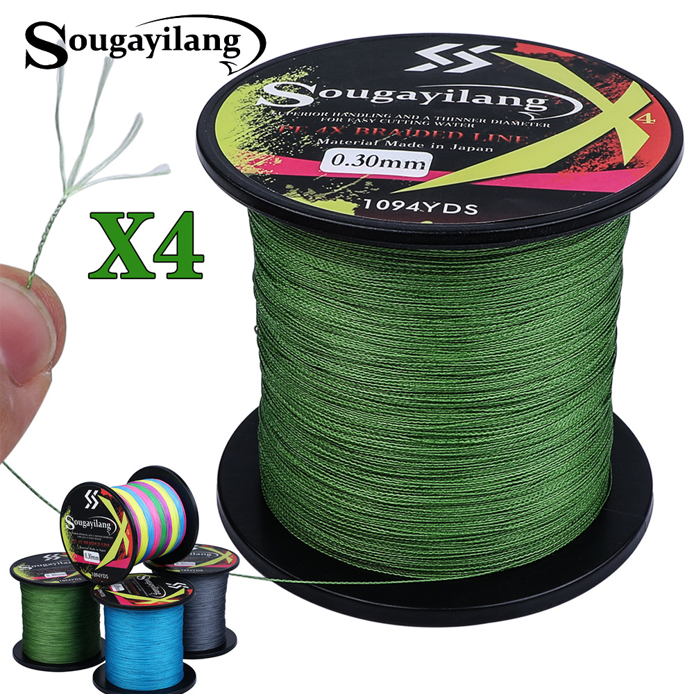 Sougayilang 300M 500M 1000M PE Fishing Line 4 Strands Braided Fishing LineMultifilament Fishing Wire Carp Fishing Line