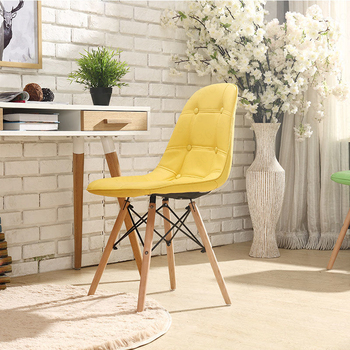 Modern minimalist dining chair home restaurant chair computer chair solid wood Nordic living room chair