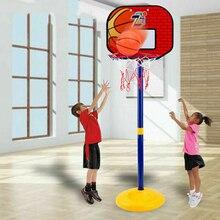 Набор игрушек для игры в баскетбол, регулируемая подставка, держатель для корзины, обруч для гол, для игр в помещении, для детей, двора, для иг...