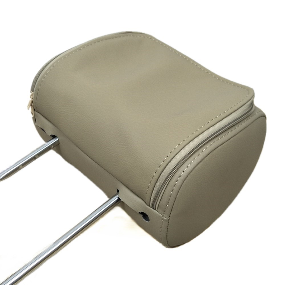 """Универсальный """" сенсорный экран автомобильный подголовник монитор MP5 плеер Подушка монитор Поддержка AV/USB/SD вход/FM/динамик/наушники/Bluetooth - Цвет: Beige with zipper"""