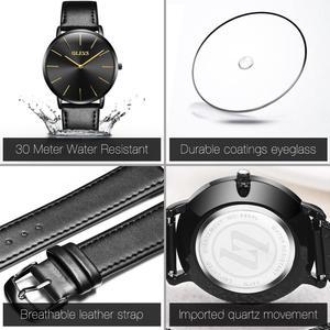 Image 4 - 남성 울트라 씬 쿼츠 시계 OLEVS 탑 브랜드 럭셔리 손목 시계 캐주얼 비즈니스 가죽 시계 로즈 방수 남자 시계 Reloj