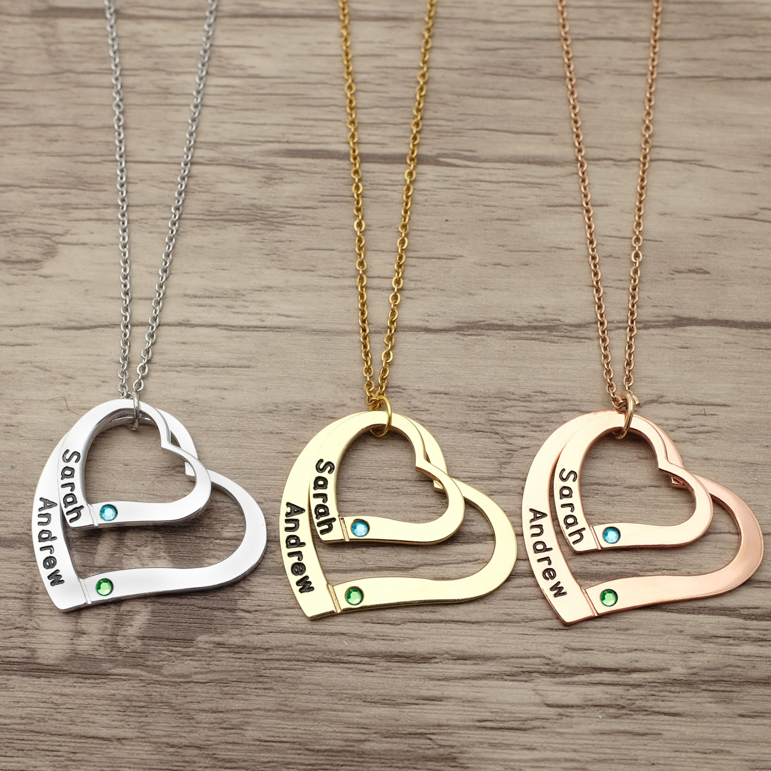 Personality Name Necklace Heart Pendant Name Jewelry Valentines Gift Friendship Necklace Gift For Her
