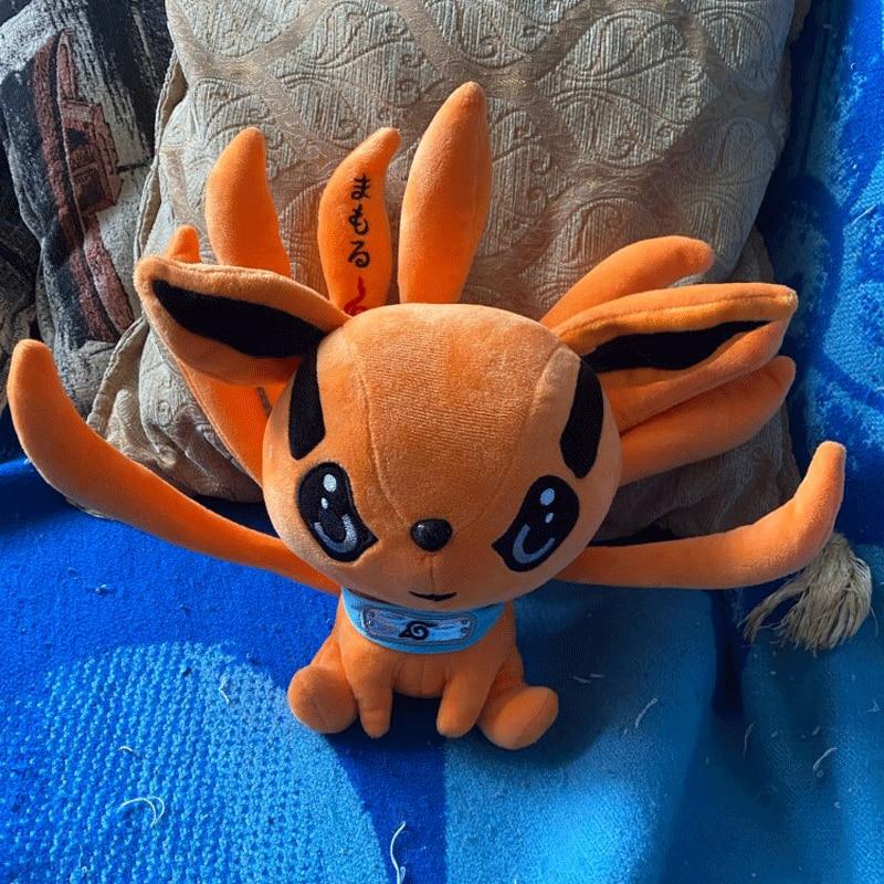 25cm Naruto Shippuden peluş oyuncak Peluche Kurama Kyuubi dokuz masalları tilki yumuşak doldurulmuş hayvanlar oyuncak bebekler bebek çocuklar için doğum günü hediyesi