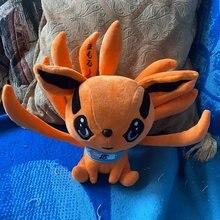 Peluche Naruto Shippuden 25cm, jouets poupées, Kurama Kyuubi, neuf contes de renard, animaux doux, cadeau d'anniversaire pour bébés enfants