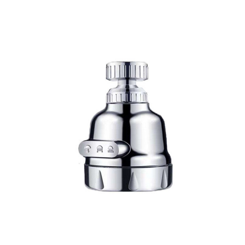 Three-speed Pressurized Water-saving Faucet 360 ° Rotary Rinse Demineralized Water Kitchen Bathroom Basin Fittings Threaded