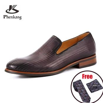 Phenkang, zapatos formales para hombre, zapatos oxford de cuero genuino para hombre, zapatos de vestir para boda, zapatos de oficina para hombre, zapatos para hombre