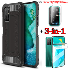 3-in-1чехол,hydrogel film + case for honor-30-pro + shockproof silicone cases honor30 s huawei honor 30 pro plus cover honor 30s