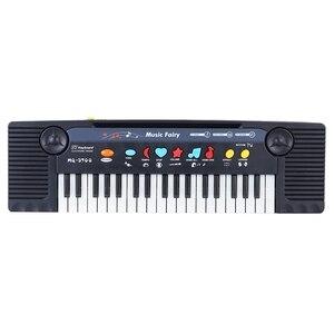 Image 2 - 37 מפתחות רב תכליתי מיני אלקטרוני מקלדת פסנתר מוסיקה צעצוע עם מיקרופון חינוכיים Electone מתנה לילדים תינוקות