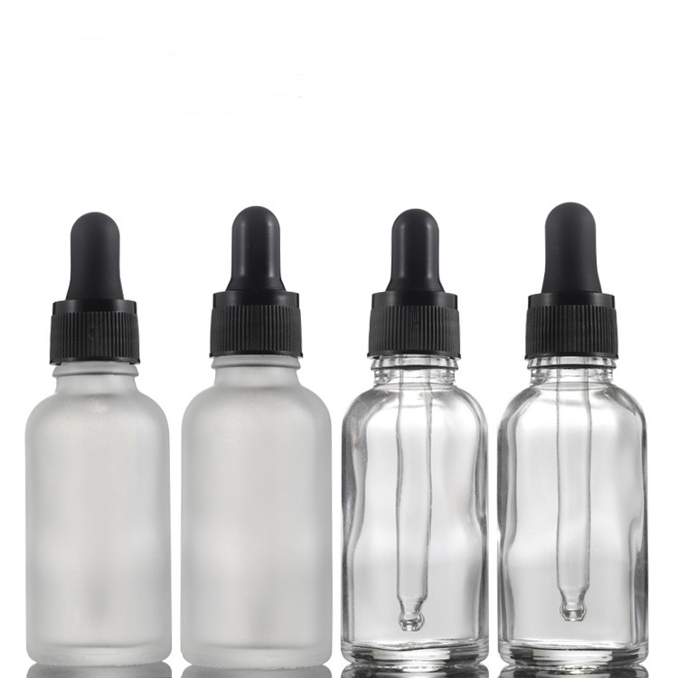 30ML Essential Oil Bottles Transparent Glass Bottles With Glass Dropper Travel Dropper Liquid Pipette Bottle Refillable Bottles