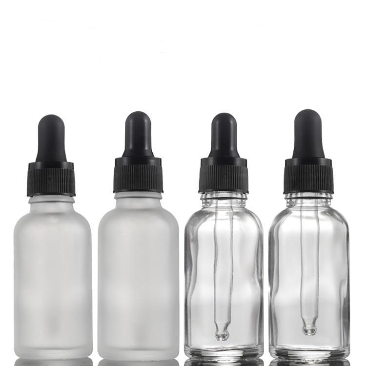 30ML Essential Oil Bottles Transparent Glass Bottles With Glass Dropper Travel Dropper Liquid Pipette Bottle Refillable Bottles
