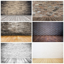 Laeacco Brick Backgrounds Wall Wooden Flooring Baby Birthday Party Pet Doll Portrait Photography Backdrop Photocall Photo Studio