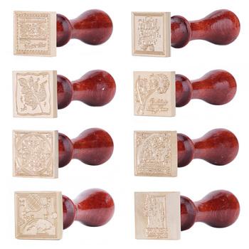 Vintage DIY plac pieczęć pieczęć wymienić miedziana głowica pieczęć woskowa antyczne pieczęć wosk pieczęć drewna uchwyt koperty zaproszenia ślubne tanie i dobre opinie CN (pochodzenie) Seal Stamp Pieczątka standardowa Other dekoracja