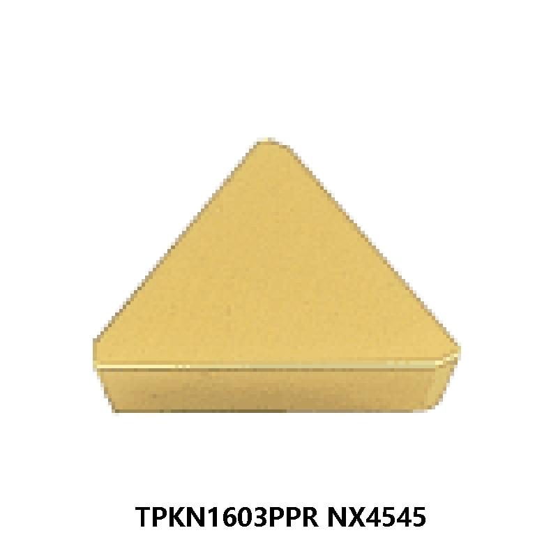 MITSUBISHI Original Insert TPKN1603PPR NX4545 TPKN1603 TPKN 1603 10pcs Carbide Inserts Lathe Cutter Tools Turning Tool CNC