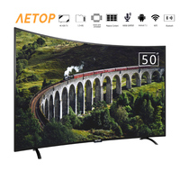 Free shipping new product 50 inch smart tv led 4k hd television tv curved screen with DVB S2/T2