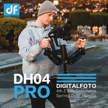 DH04 Pro Z axis Spring dual handle gimbal hold Arm for ZHIYUN Crane 2/3/3S DJI Ronin S/SC MOZA AIRCROSS Air 2 Weebill S &LAB