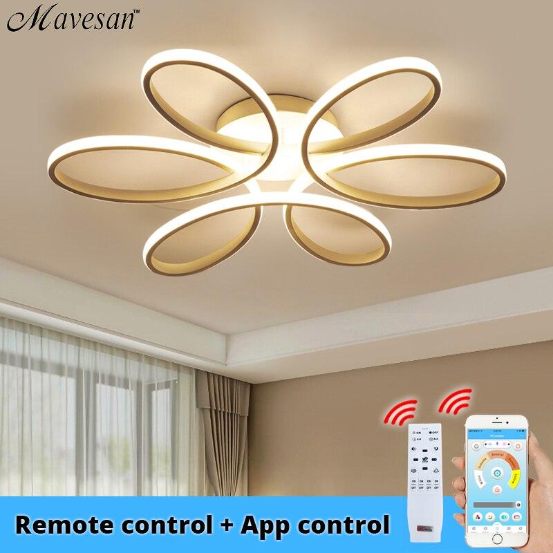 Lustre lampe Led moderne, éclairage pour le Lustre de salon lumière du Lustre à agneaux 72W 90W 120W eclairage de la lampe