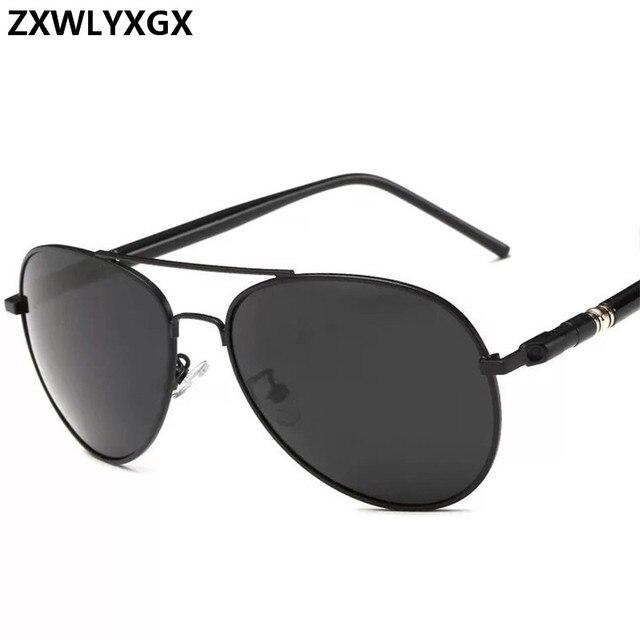 Clásico gafas de sol polarizadas conducción de los hombres gafas negro gafas de sol de aviador de marca de diseñador para hombre gafas de sol Retro Para hombres/mujeres 4