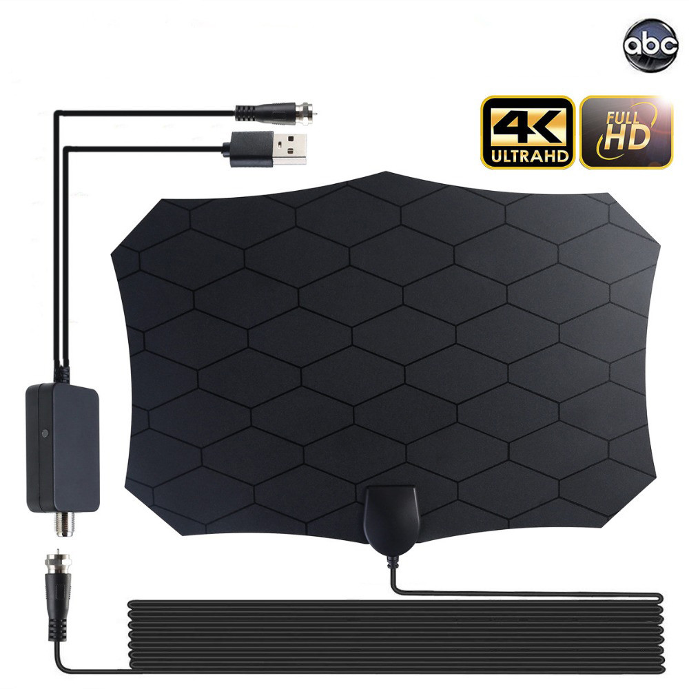 2020 New Indoor Digital HDTV Antenna 1000 Miles 4K Antenna Digital TV With Amplifier DVB-T/DVB-T2 Grid Satellite Dish TV Aerial