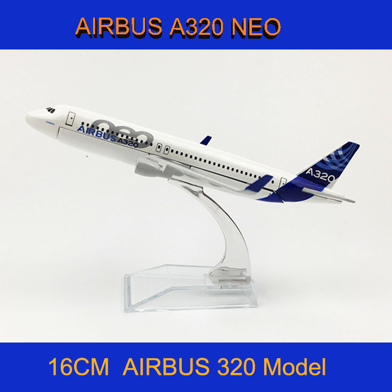 1/400 Scale Alloy Metal Airplane Airbus 320 A320 NEO Air Passenger Plane Model Diecast Children Aircraft Airbus Collections Toys