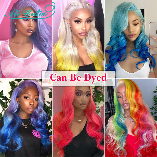 Ali Grace Blonde 613 Lace Front Wig Pre-plucked 13×6 Lace Front Human Hair Wigs with Baby Hair Body Wave Wig Can Be Dyed