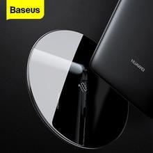Baseus cargador inalámbrico Qi para Huawei Mate 20 Pro, 10W, almohadilla de carga inalámbrica rápida para iPhone 11 Pro Max X Xs Samsung S9