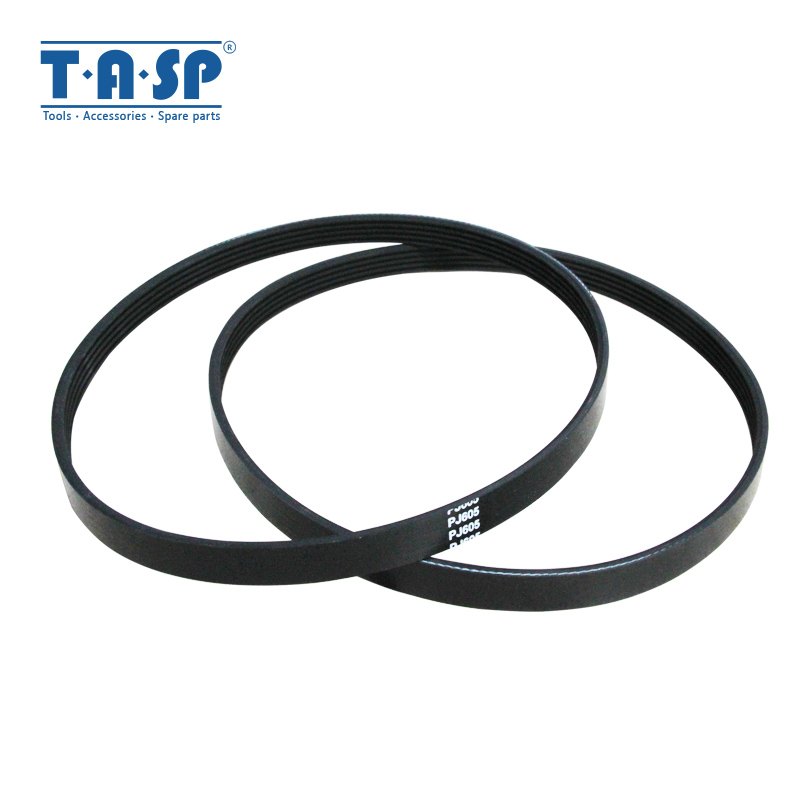 TASP 2pcs 5 Ribs Drive Belt 5PJ605 Replacement V-Belt PJ 605 For Wood Planer Machine Einhell TH-SP-204 W588