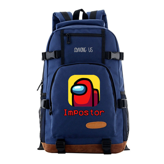 Among Us Men's Backpack Women Fashion Middle School Student's Bag Free Shipping Unisex Outdoor Sport Travel Casual Shoulder Bag