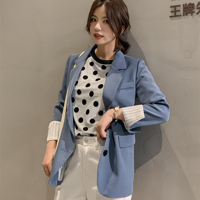 HziriP Office Ladies Blazer 2020 New Notched Collar Women  Jackets And Blazers Single Breasted Autumn OL Coat Plus Size 4 Colors