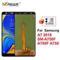 Para samsung galaxy a7 2018 SM-A750F a750f a750 lcd com quadro display toque digitador da tela peças de reposição para a750f lcd