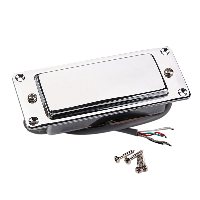 Chrome Silver Mini LP Guitar Humbucker Pickup Sealed Pick Up Music Repair Parts