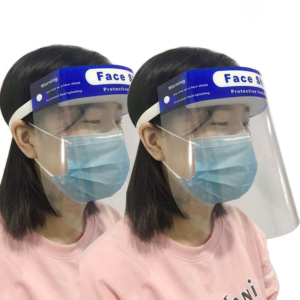 Full Face Shield Mask Flip Up Visor Oil Fume Protection Safety Work Guard Transparent Anti Droplet Dust-proof Face Covering 2020