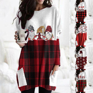 Women's Christmas Color Matching Print Sweater Mujer Long-sleeved Sweatshirt Casual Woman Sweaters Turtleneck 9.13