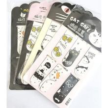 6 шт./компл. Kawaii кота кактуса магнитные закладки для книг маркер страница канцелярские принадлежности для школьных канцелярских товаров Бумага зажим