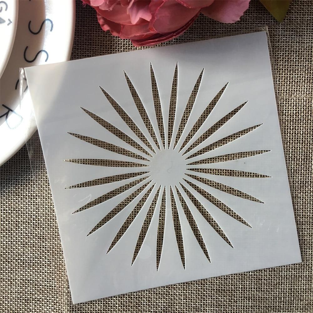 13*13cm Sun Light DIY Layering Stencils Painting Scrapbook Coloring Embossing Album Decorative Template