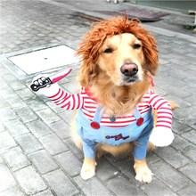 Одежда для косплея для собак; Рождественский костюм для собак с ножом; Новинка; забавная праздничная одежда для кошек