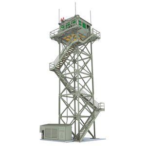 1:72 2-storey / 5-Storey Watchtower Model Sand Table Military Model Lookout Tower Bulk Decor Ho Scale Model Train Accessories
