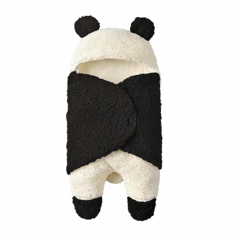 Baby Sleeping Bags Wrinkle Resistance Lightness Ventilation Newborn Infant Winter Stroller Swaddle Wrap Wool Lamb Blanket