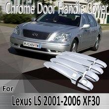 Lexus LS için XF30 430 2001 ~ 2006 2002 2003 2004 2005 Styling etiketler dekorasyon krom kapı kulp kılıfı tamir araba aksesuarları