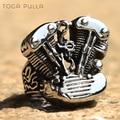 Крутое байкерское кольцо двигателя в стиле панк для мужчин и мальчиков, байкерское кольцо из нержавеющей стали 316L для мотоцикла, мужское ук...