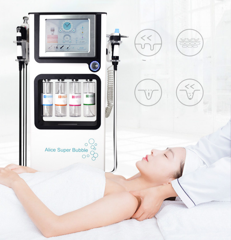 2019Newest Technology Glowskin Water Peeling Oxygen Jet Cleaning Facial Anti-aging Face Lifting Skin Care Beauty Machine